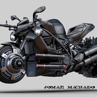 Jomar machado 190 hover black bike