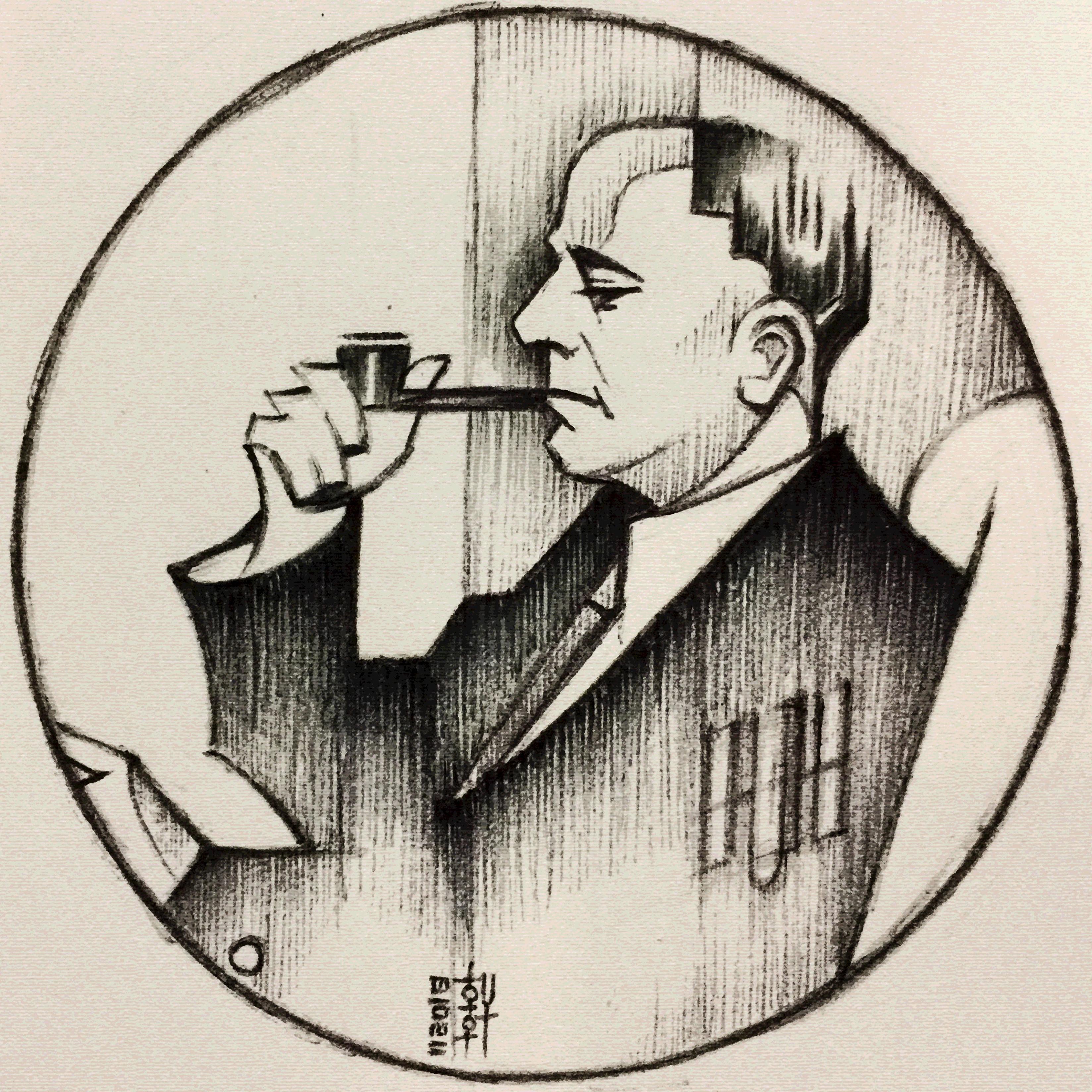 Edwin Hubble - Sketch