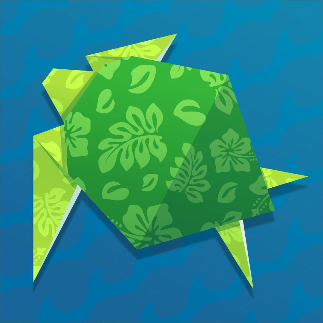 Unique Origami: Parent and child turtle | Paper Origami Guide | 1081x1081