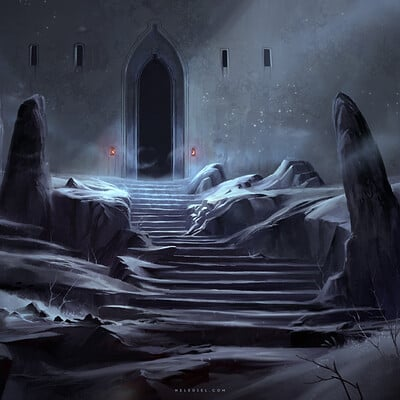 Nele diel entrance to the snow fortress