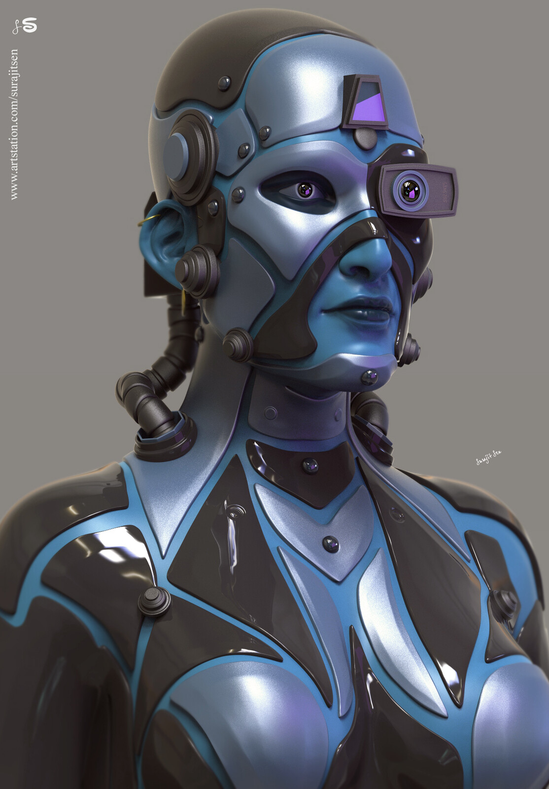 """Wish to share my weekend Concept CG Character …""""NLLAJA """". Tried to make a form of my thoughts.  Hope you like it….:)"""