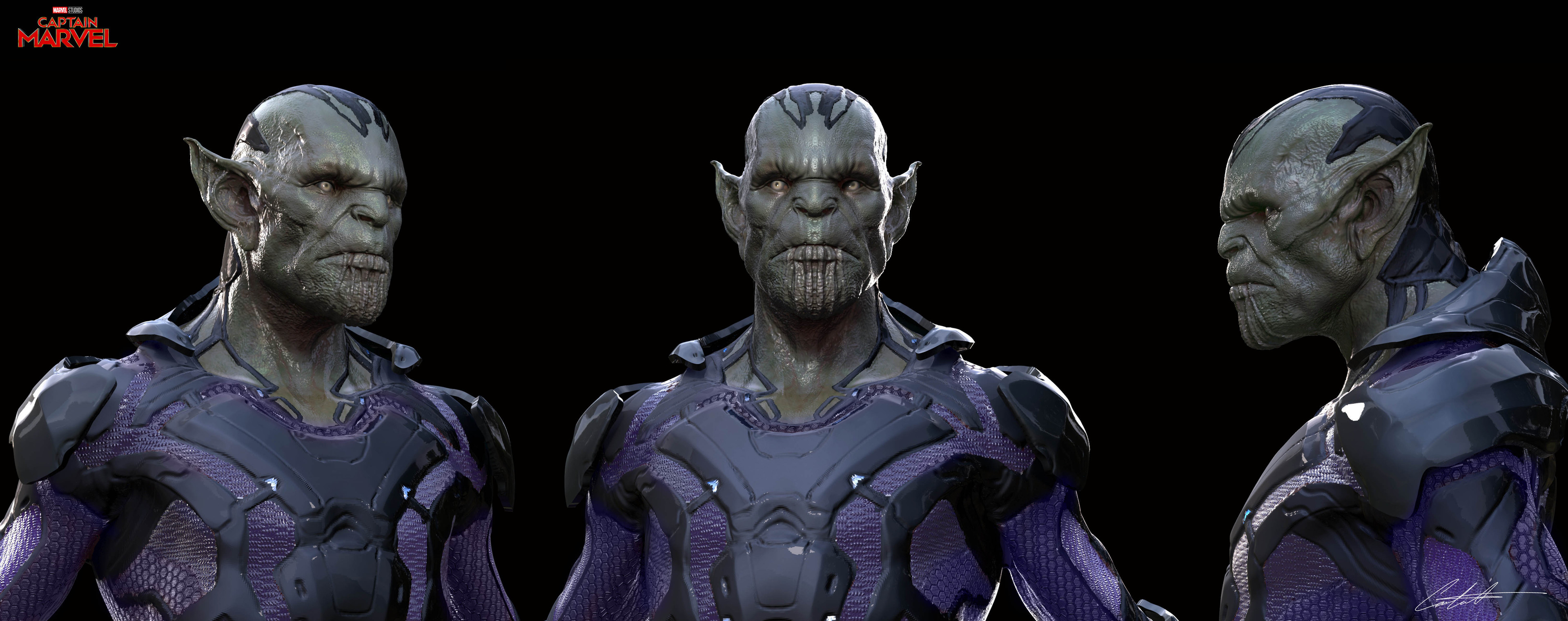 """Captain Marvel """"Skrull"""" exploration"""