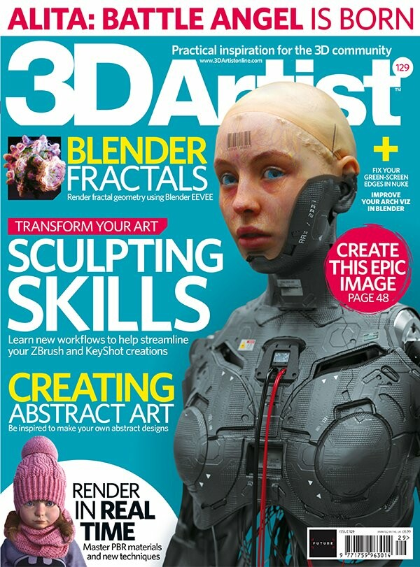 So excited to share with you that I had the pleasure to be a small part of 3D Artist Magazine issue No. 129, I believed & dreamed about this moment 9 years ago, and finally came true.