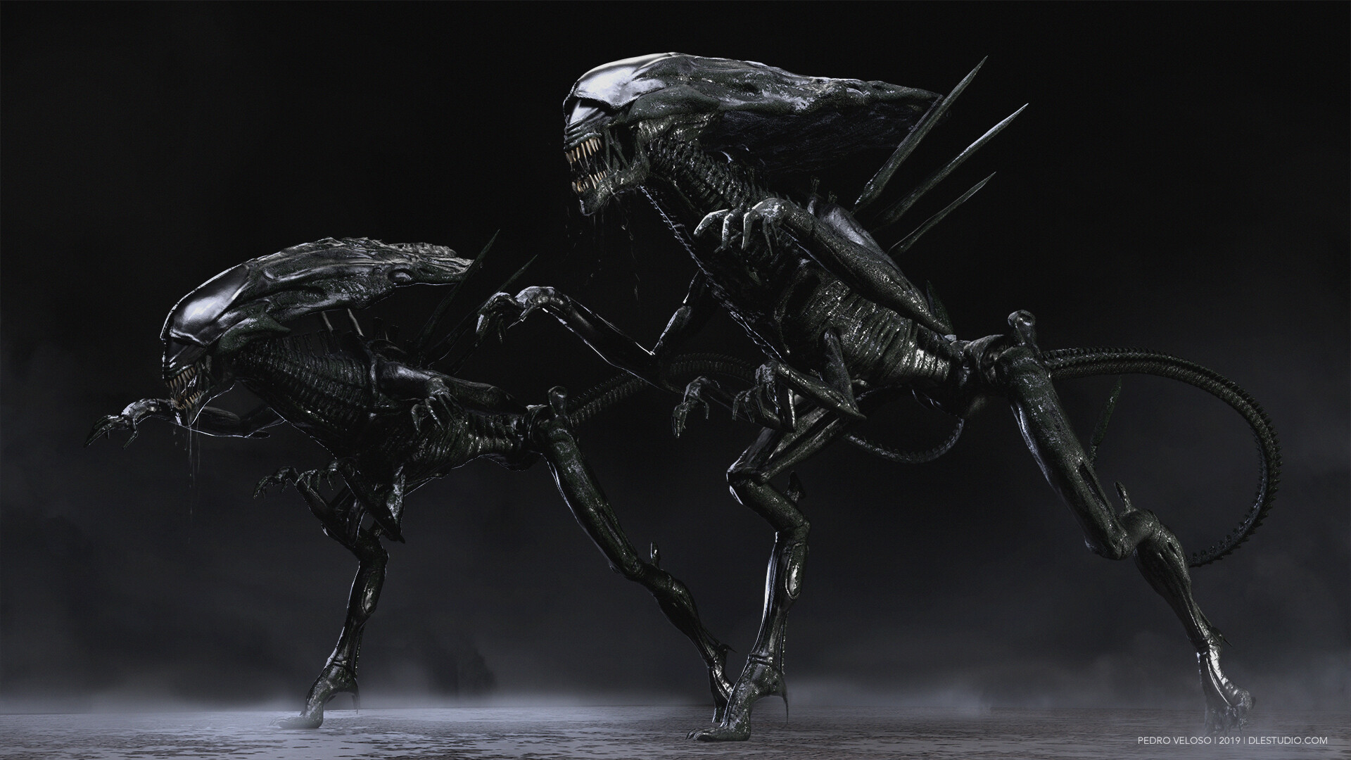 Artstation Alien Queen Pedro Veloso