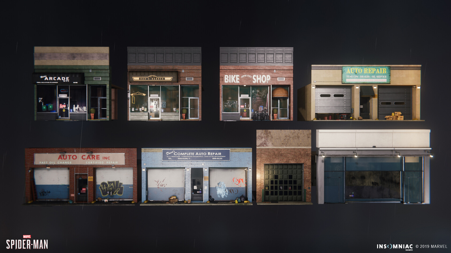 Facade modeling, Set dressing/variations