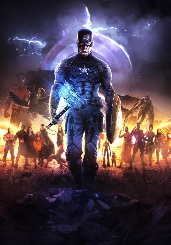 Artstation Avengers Endgame Captain America Mizuri Au