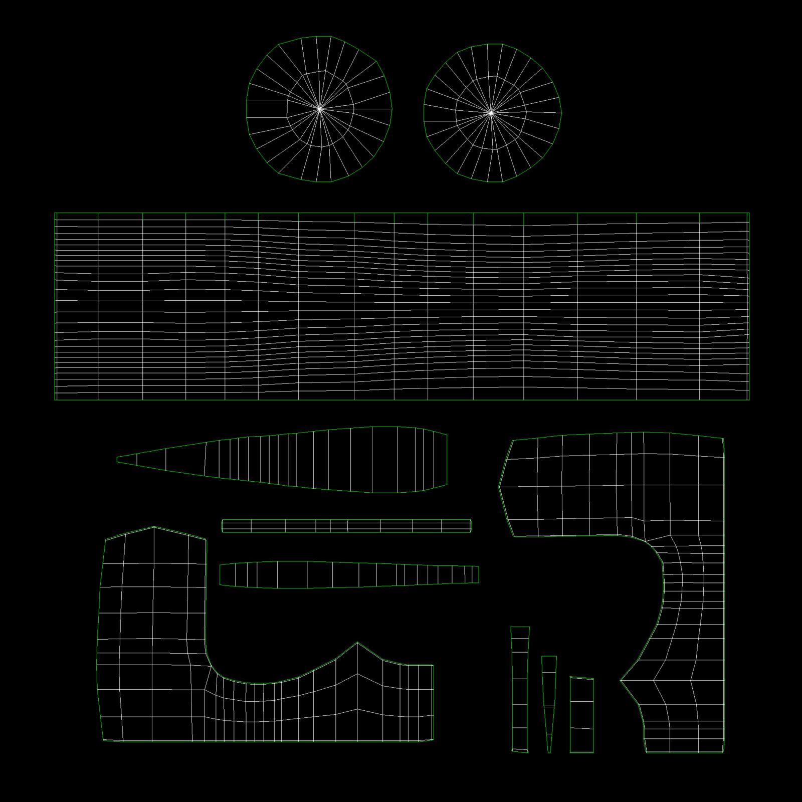 Viking Axe UV Map