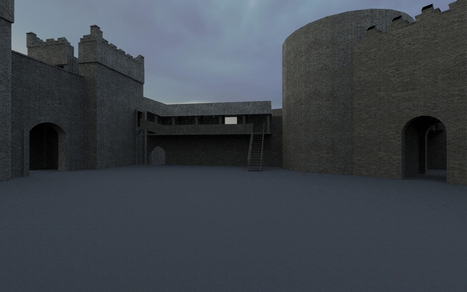 Render of castle geometry in Keyshot
