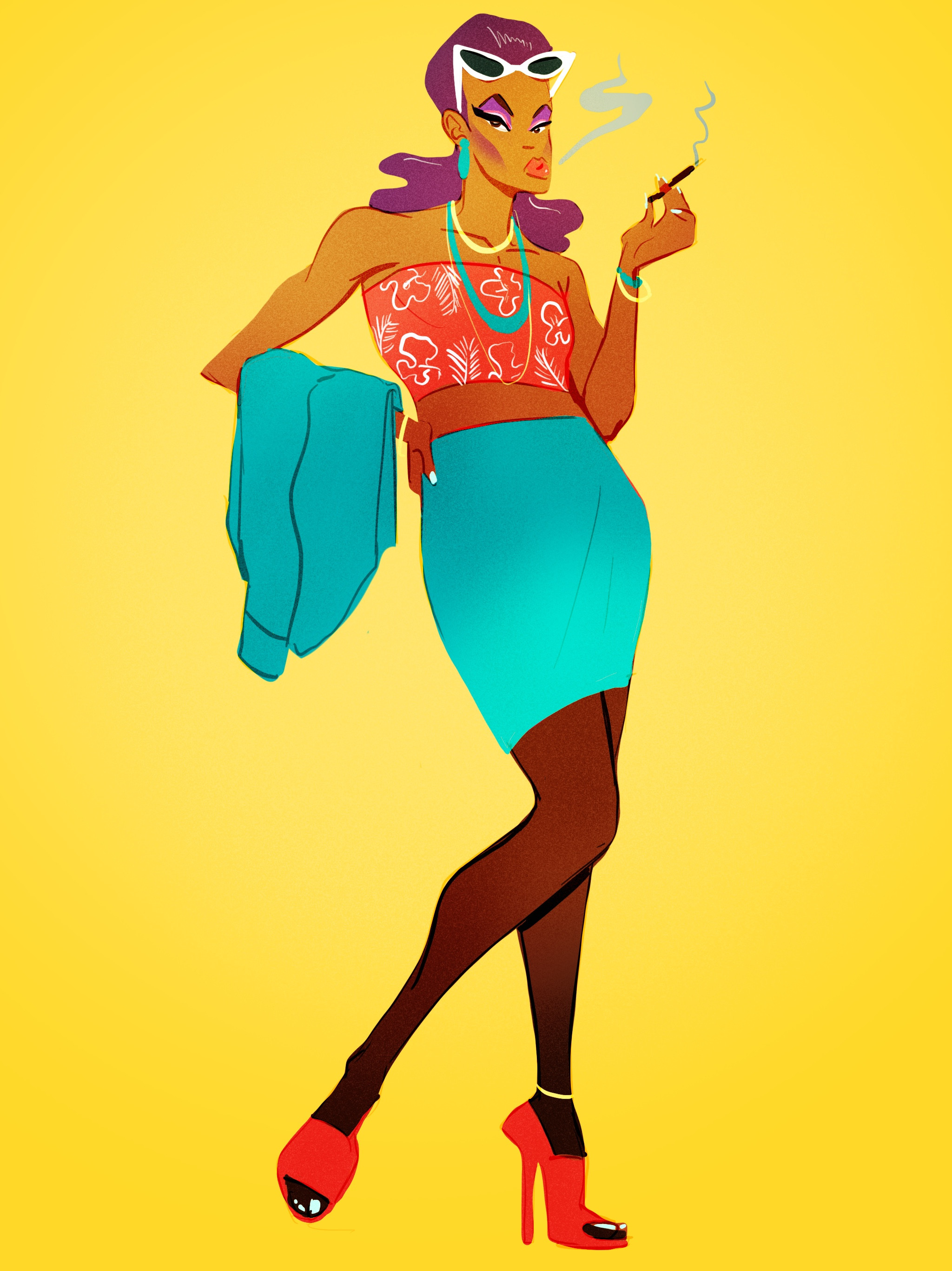 Pin-up Gyal: Mrs. Goombay Champaign: Full View