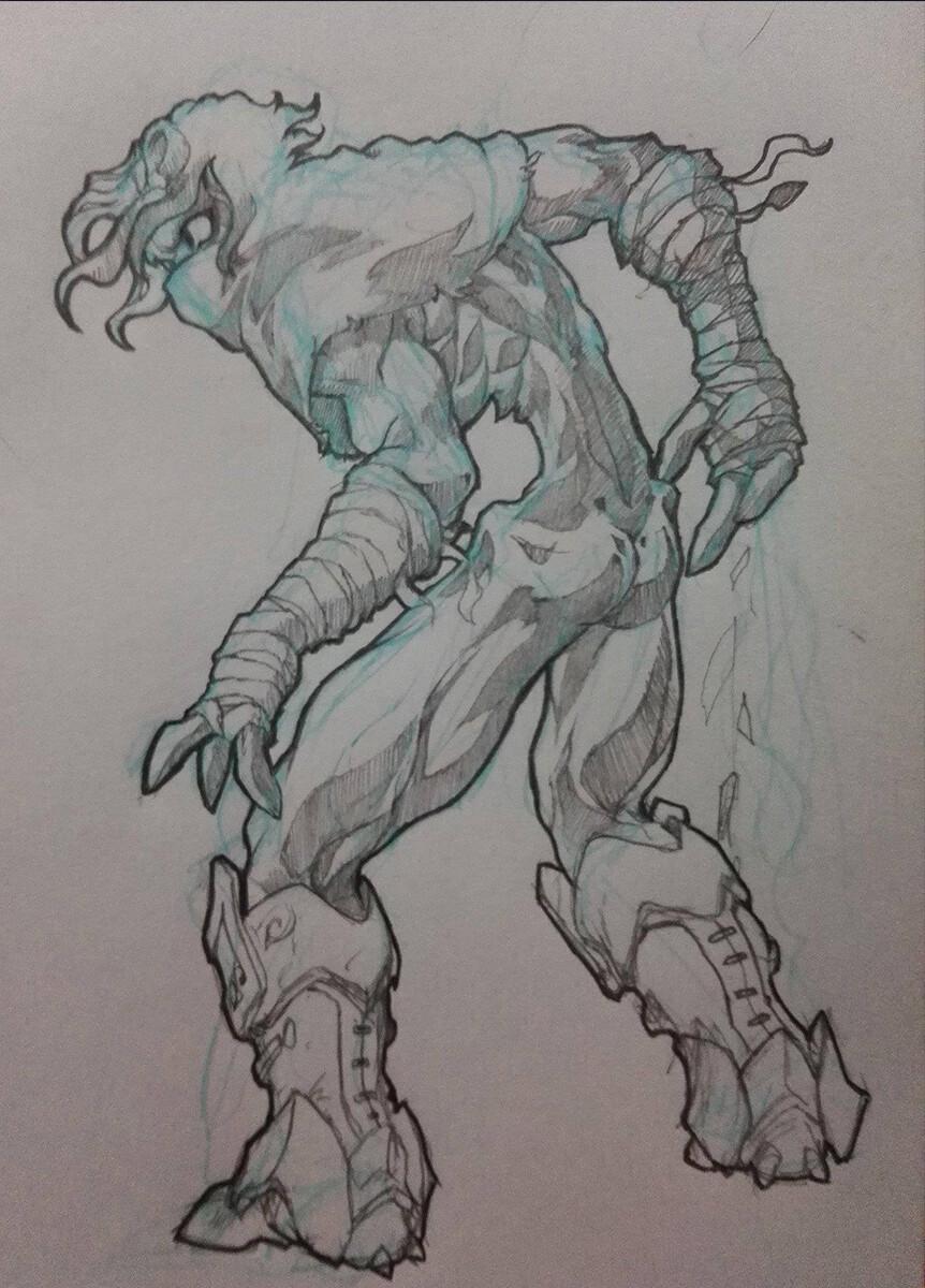 Original Raziel Pencil Sketch