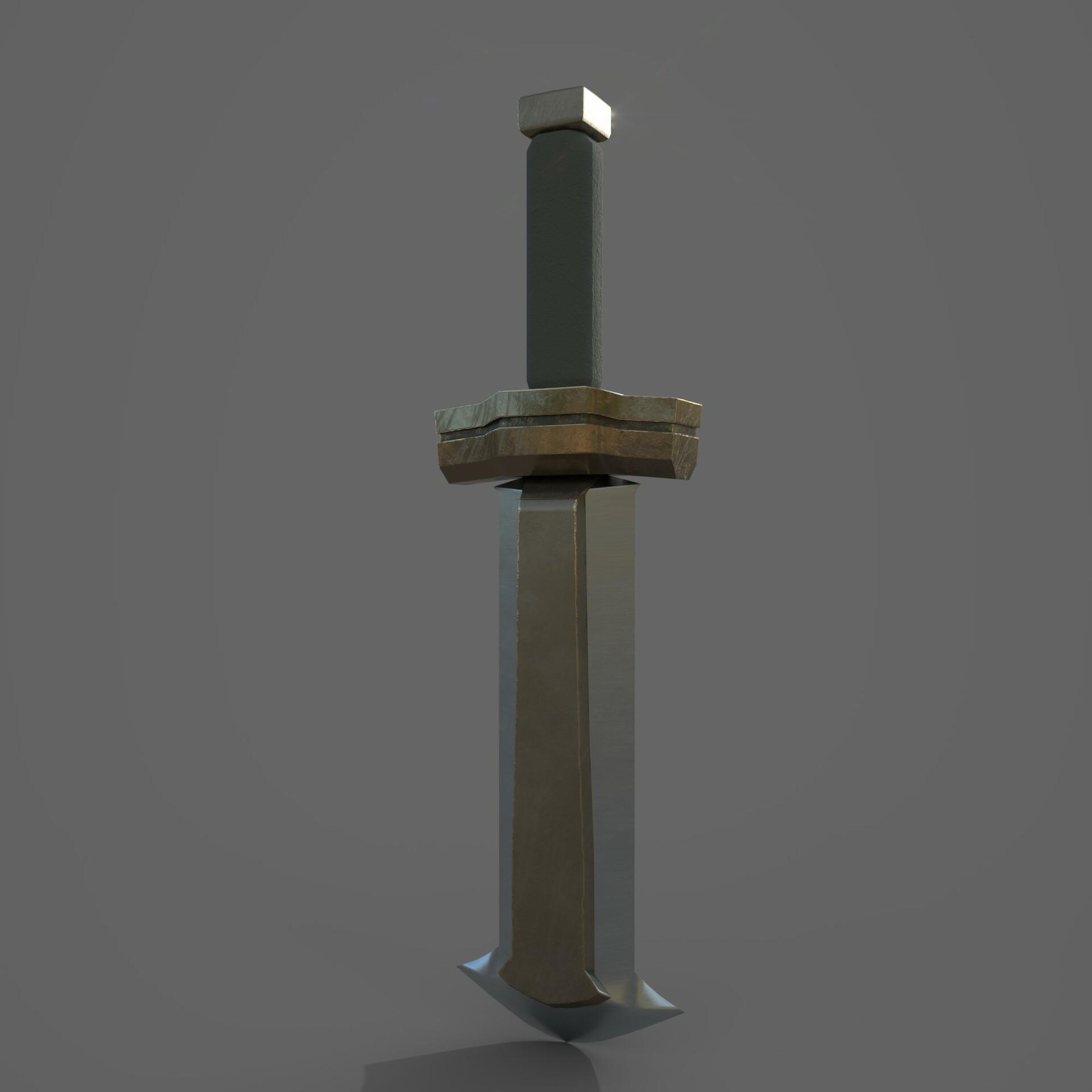 Artstation Hard Surface Modeling Ganondorf Sword Kameron