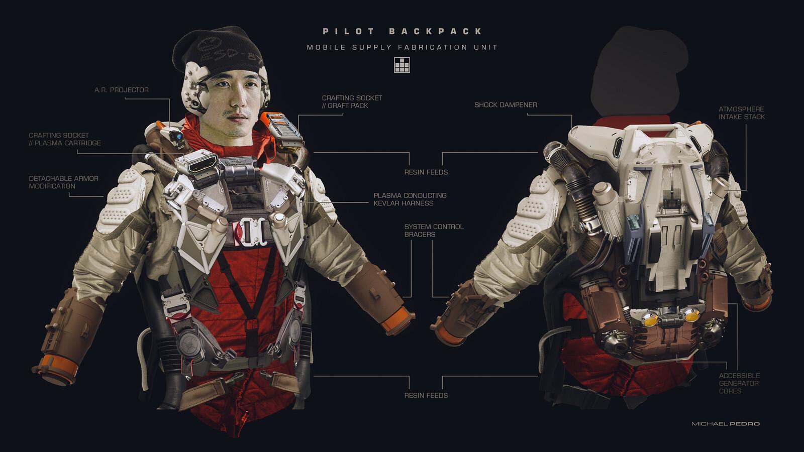 Michael Pedro - Futuristic Character Design - 2015