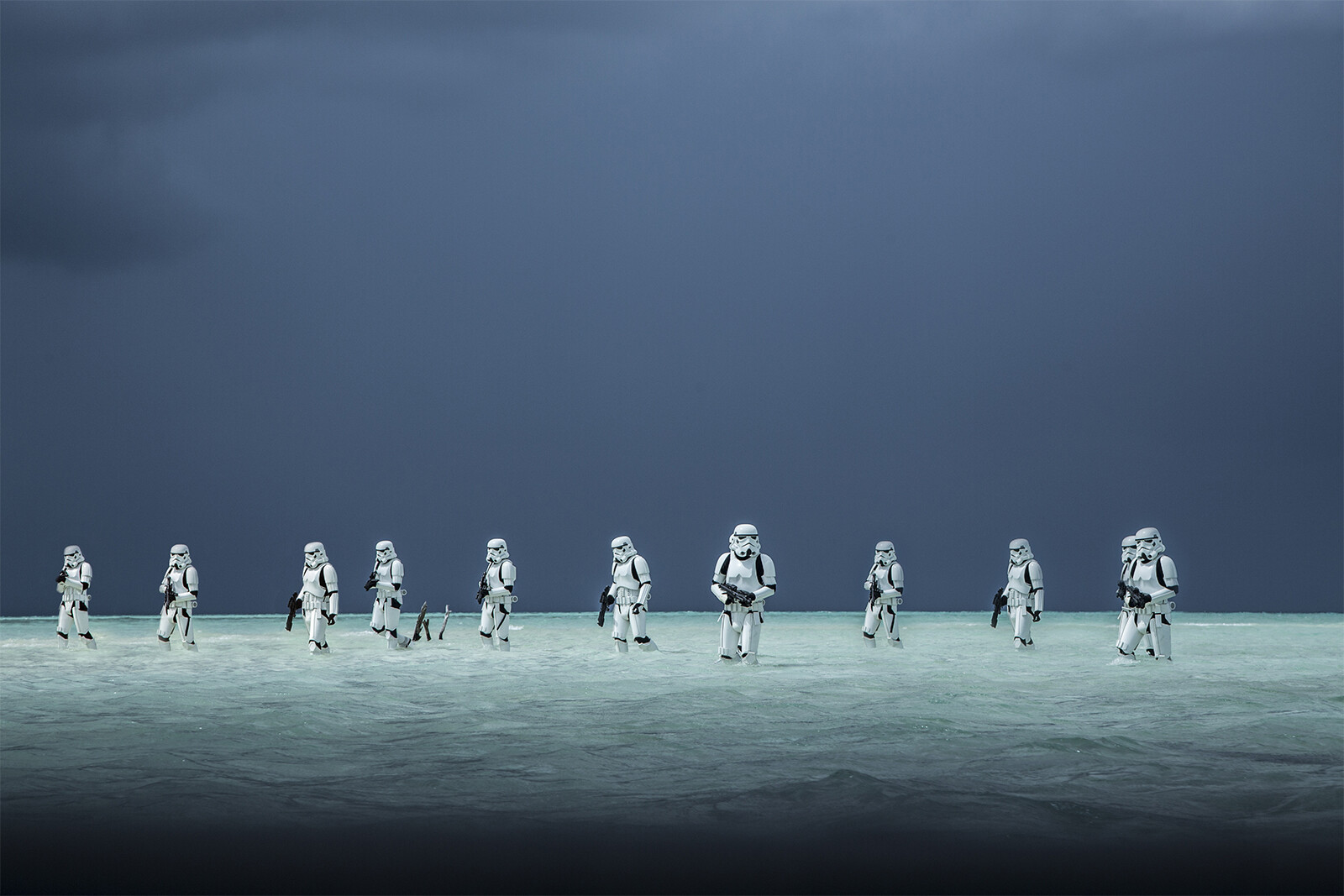 This is the Rogue One promotional image I based the above poster print on.