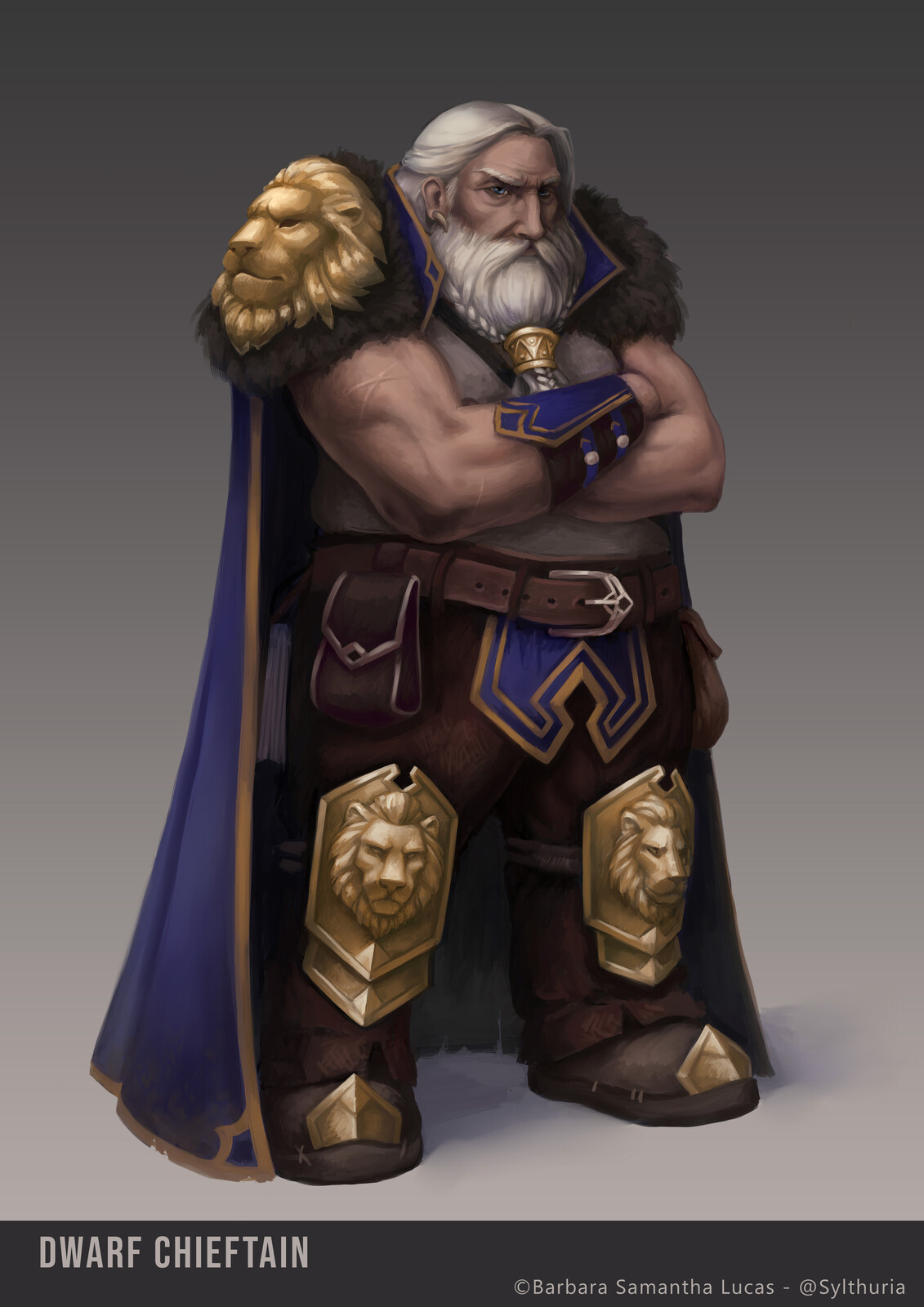 Dwarf Chieftain - Character Design