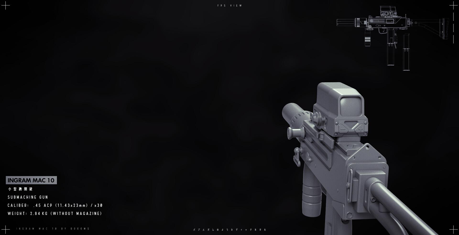ArtStation - INGRAM MAC 10 Mod - Submachine Gun, John Kilbride