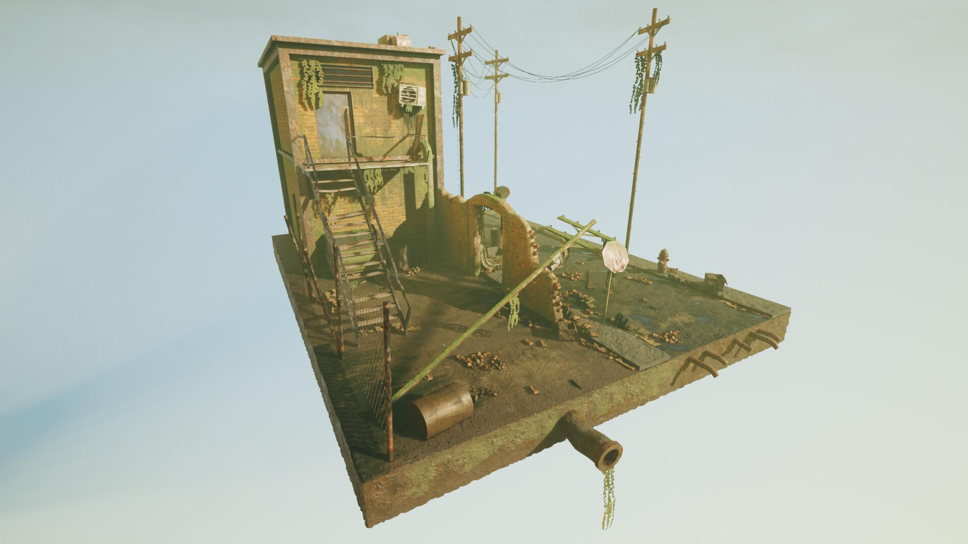 ArtStation - Urban Decay - Diorama, Ruben Chatha