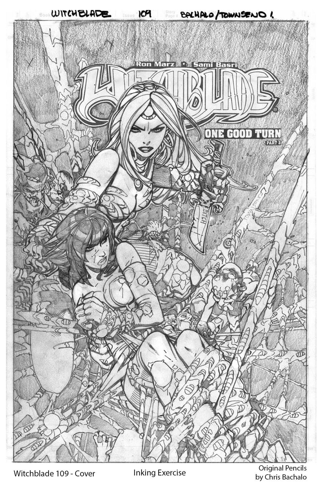 Witchblade #109 - Cover Original pencils by Chris Bachalo
