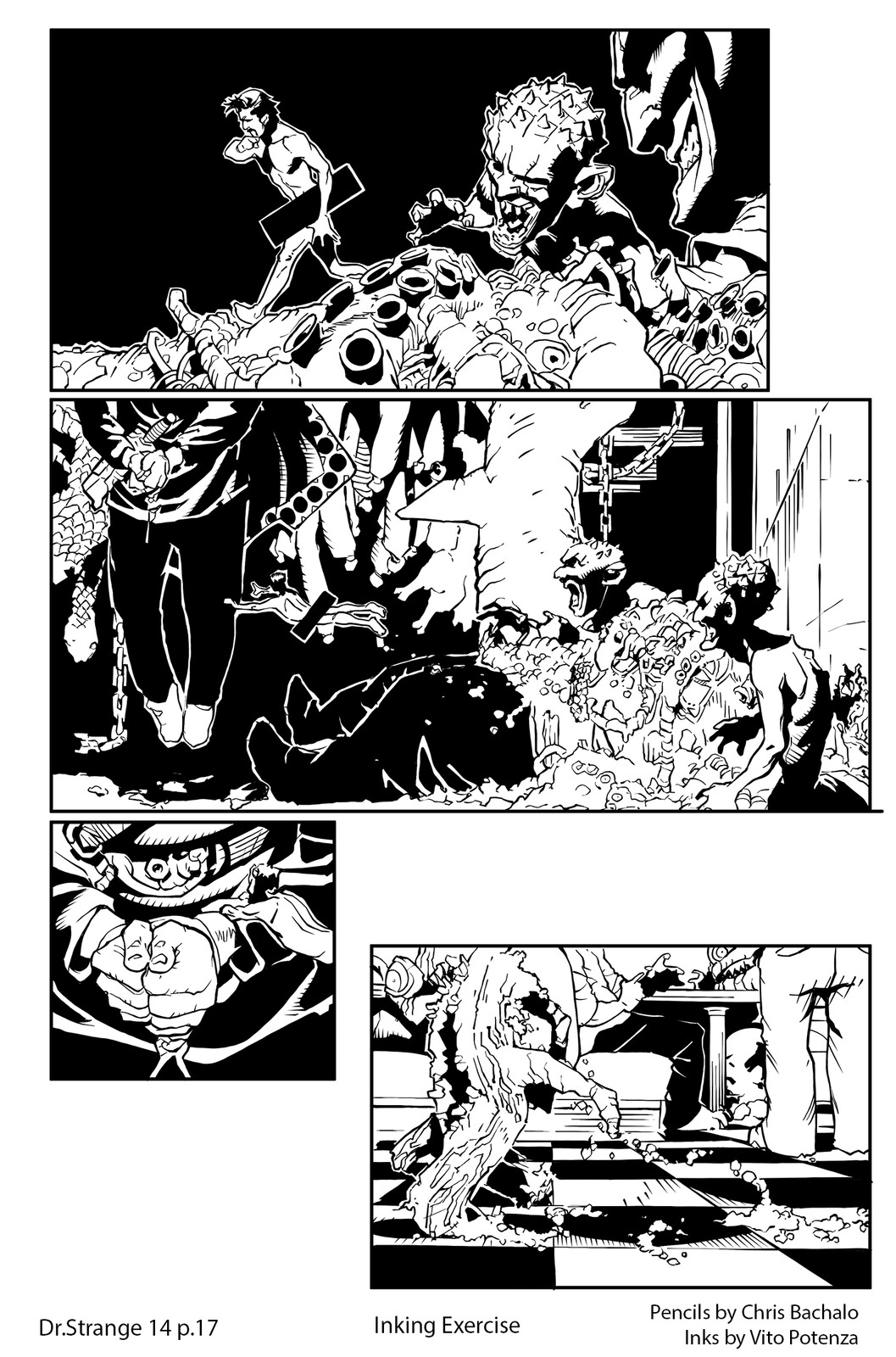 Dr.Strange #14 - page 17 Pencils by Chris Bachalo | Inking by me