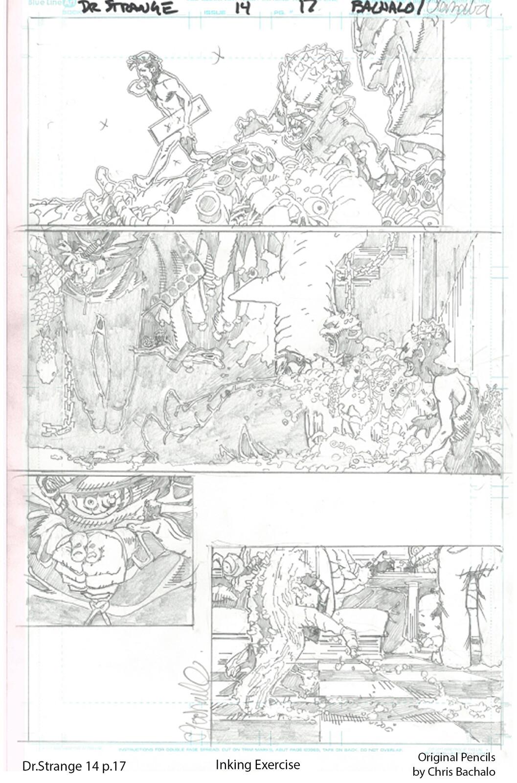 Dr.Strange #14 - page 17 Original pencils by Chris Bachalo