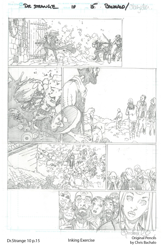 Vito potenza tav prova inking bachalo 3 dr strange 10 page 15 pencilsweb