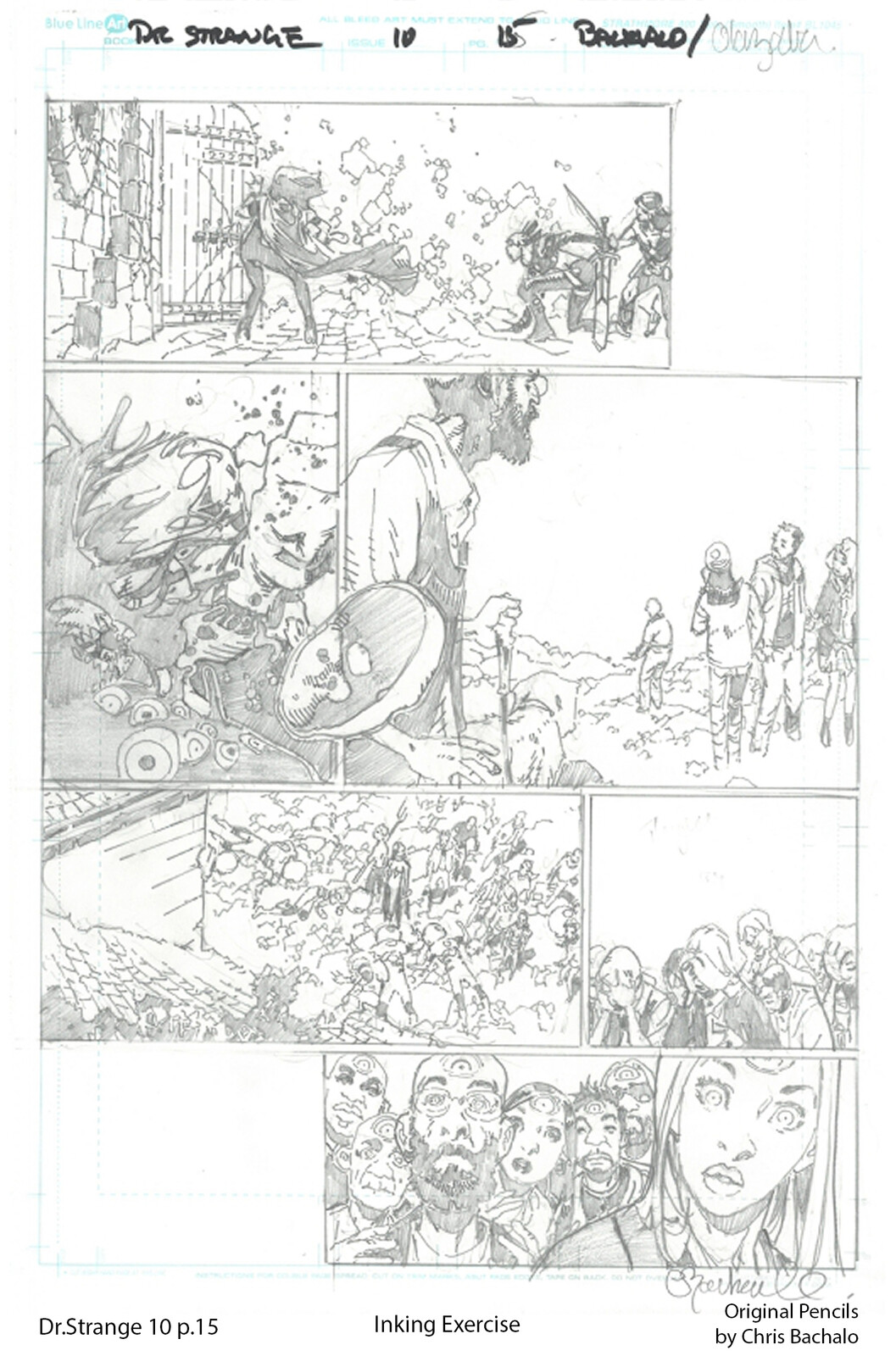Dr.Strange #10 - page 15 Original pencils by Chris Bachalo