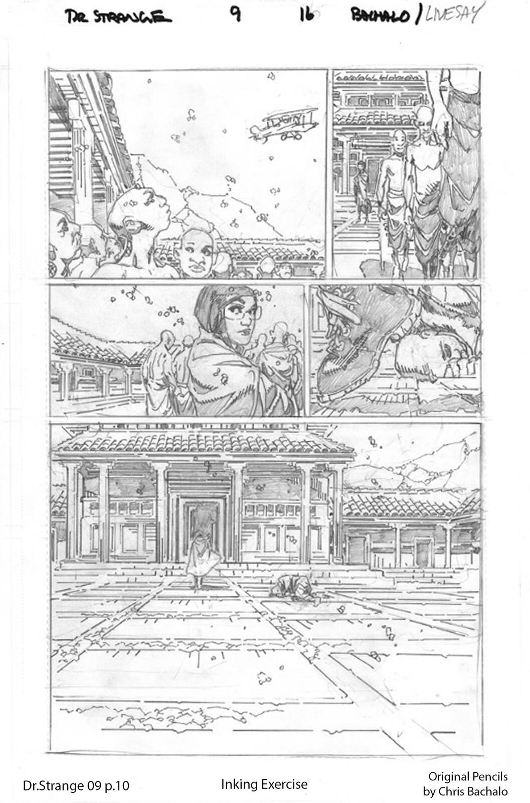Dr.Strange #09 - page 10 Original pencils by Chris Bachalo