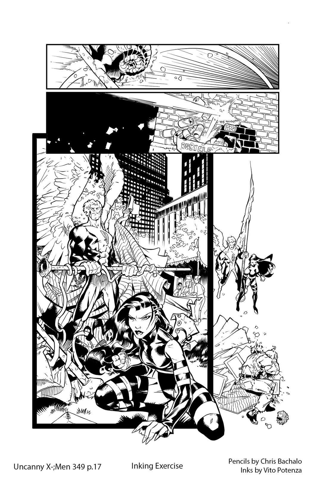 Uncanny X-Men #349 - page 17 Pencils by Chris Bachalo | Inking by me