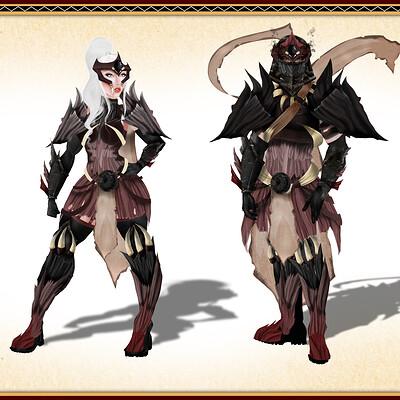 Sophie elisabeth martinez nightingale male and fem armour done