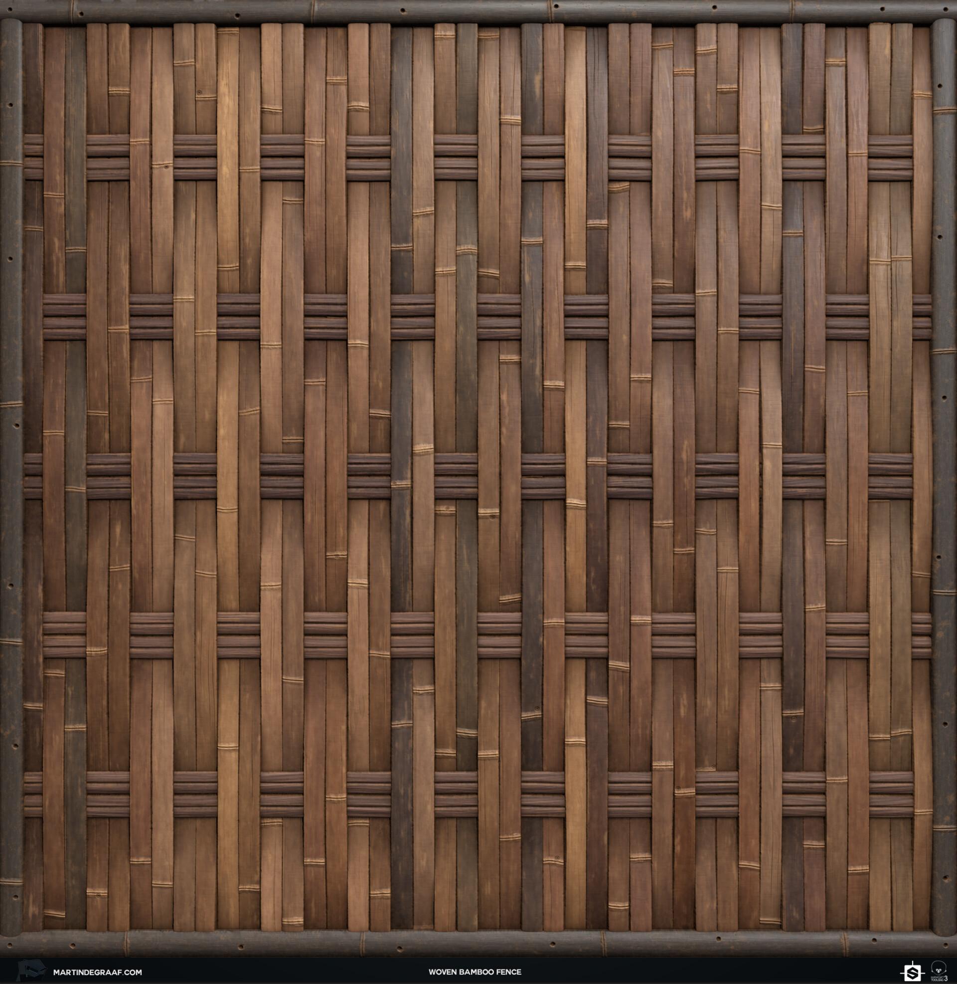 Martin de graaf woven bamboo fence substance front martin de graaf 2019