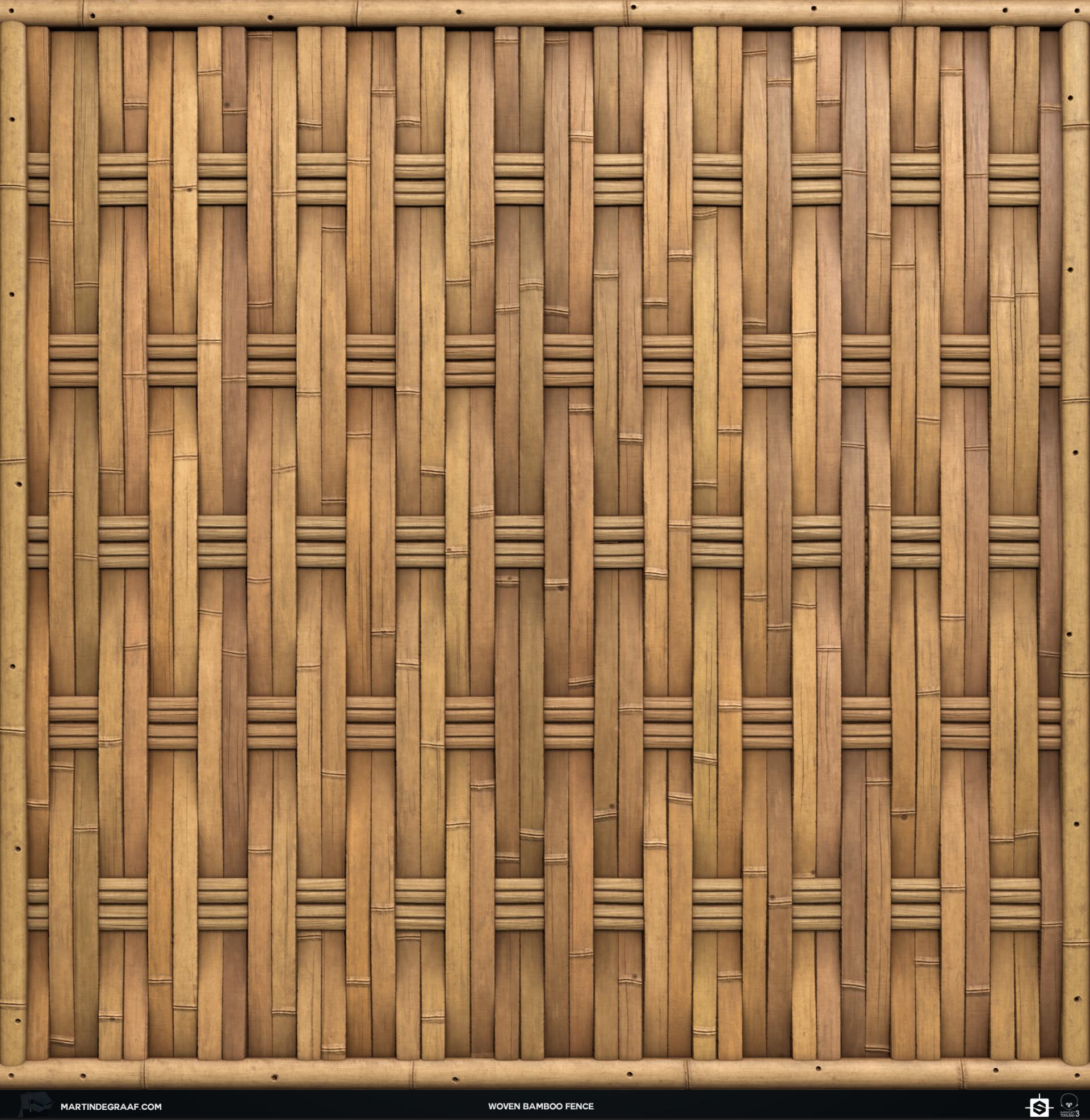 Martin de graaf woven bamboo fence substance front2 martin de graaf 2019