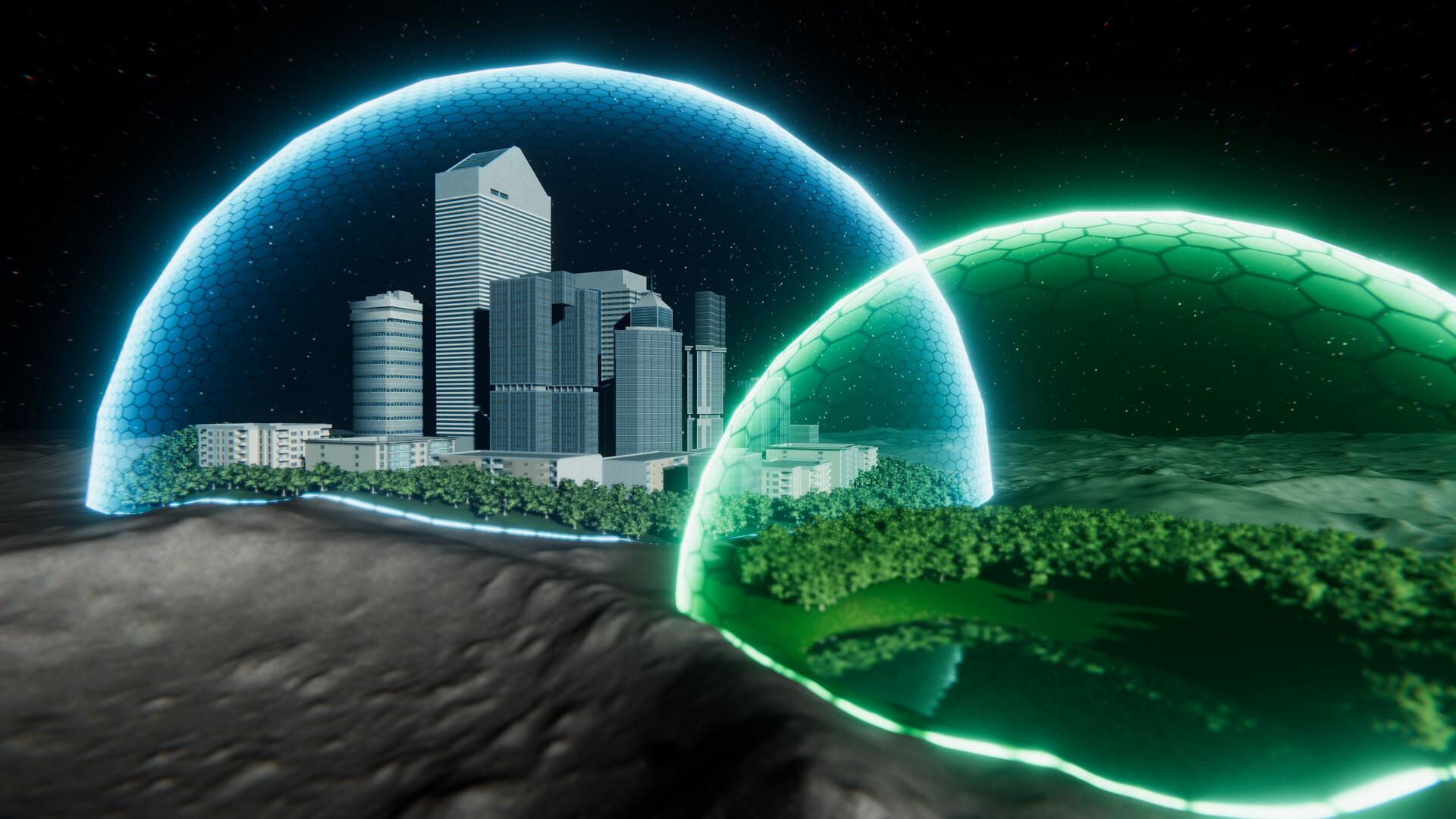 ArtStation - City on the Moon, Malik Ouda