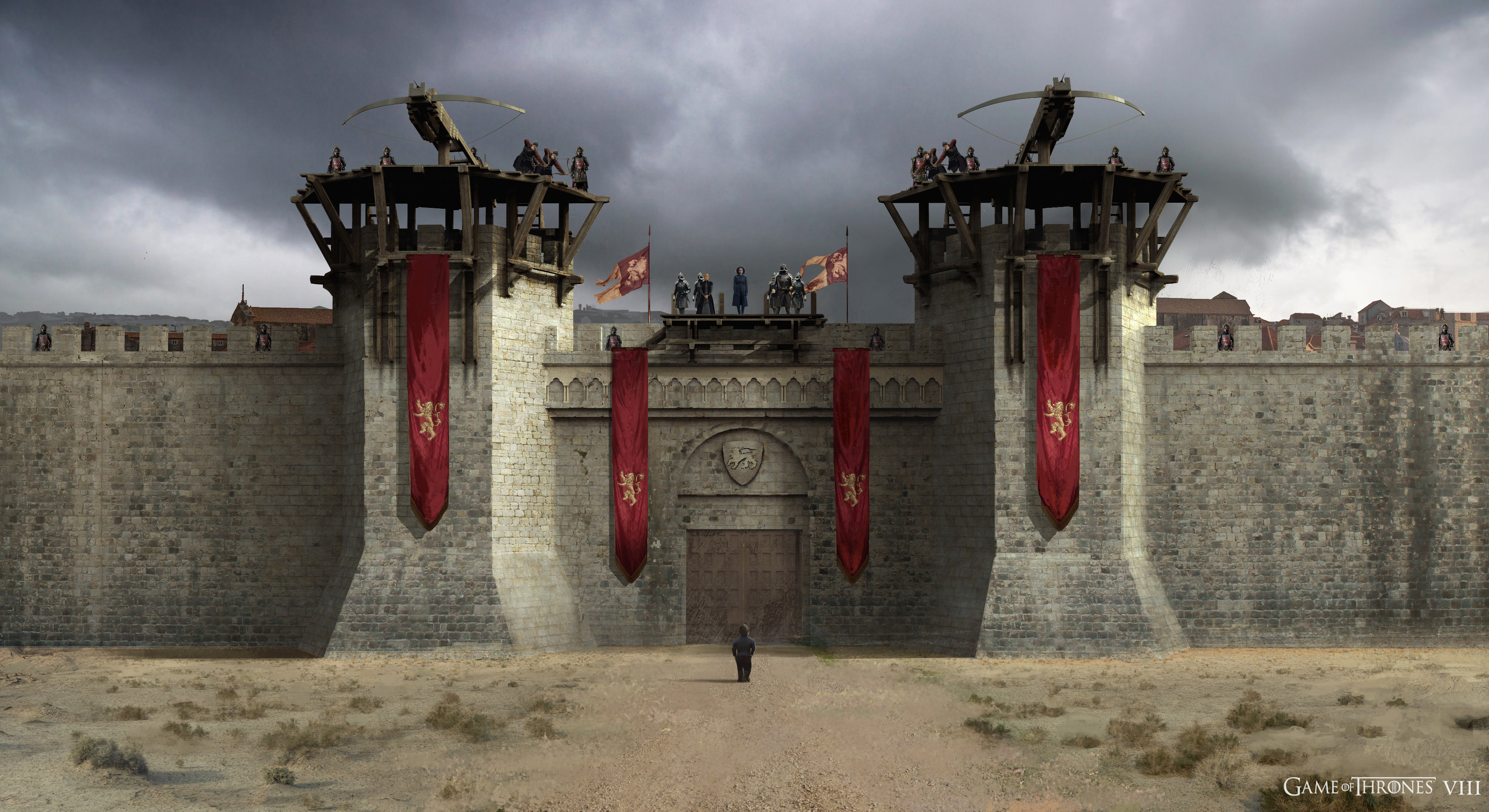 View of the Kingslanding Gate from Daenerys' POV