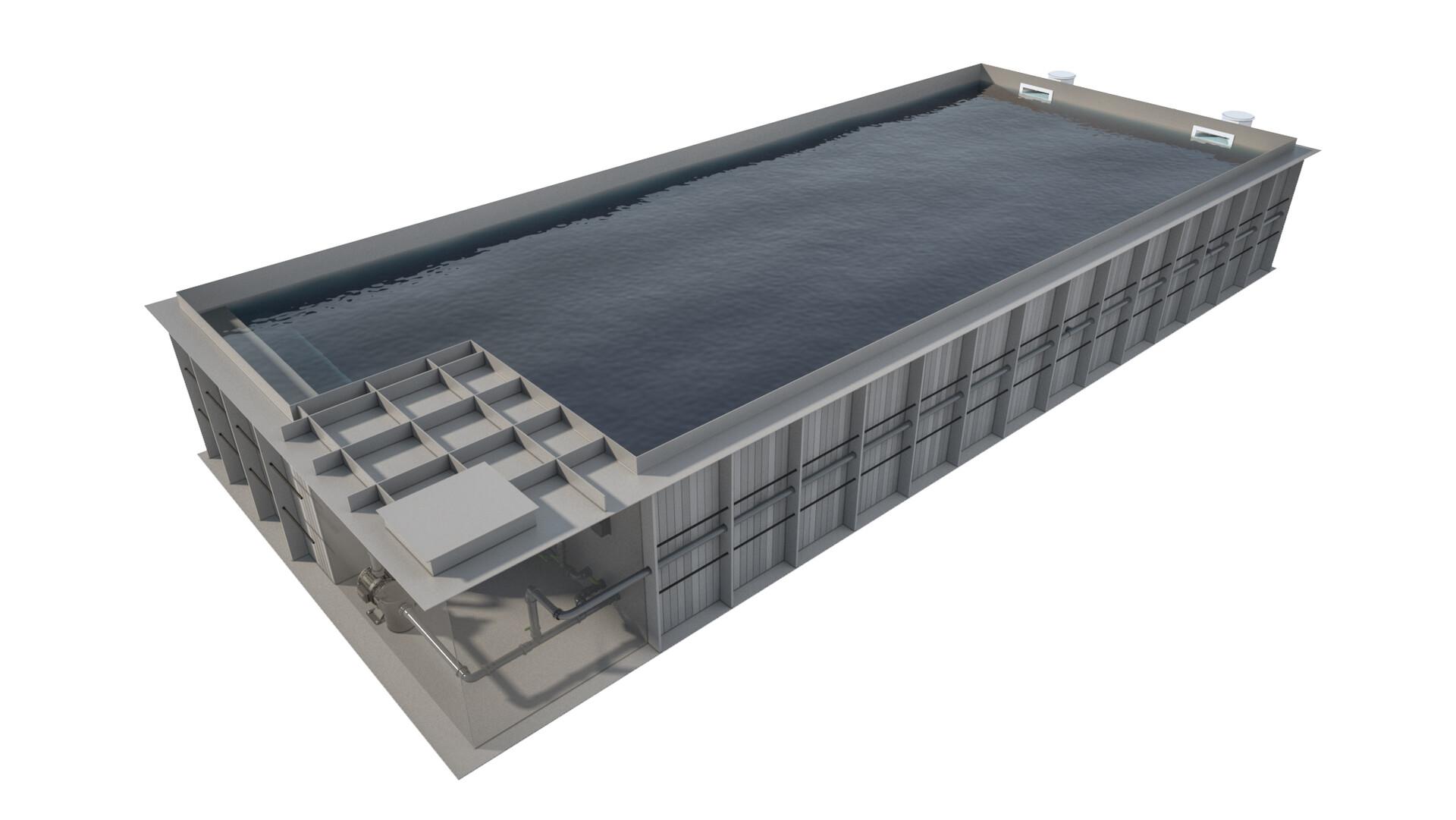 Pawel oleskow basen compact zintegrowany ze skimmerem niecka szara woda szara