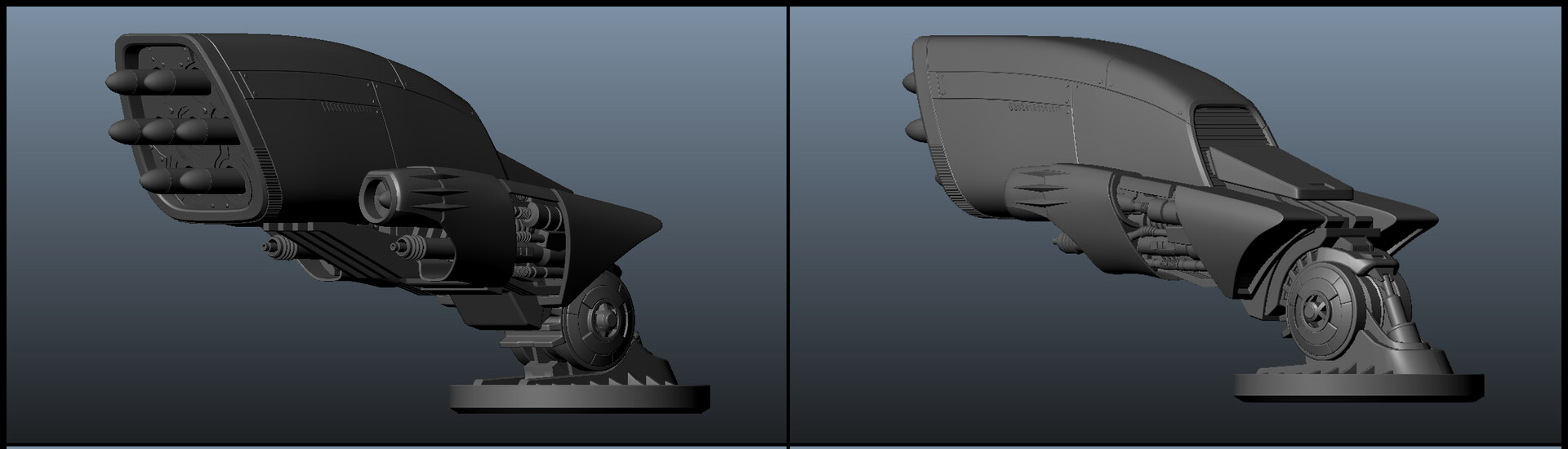 3D model of my concept for the weapon and the attachment mechanism.