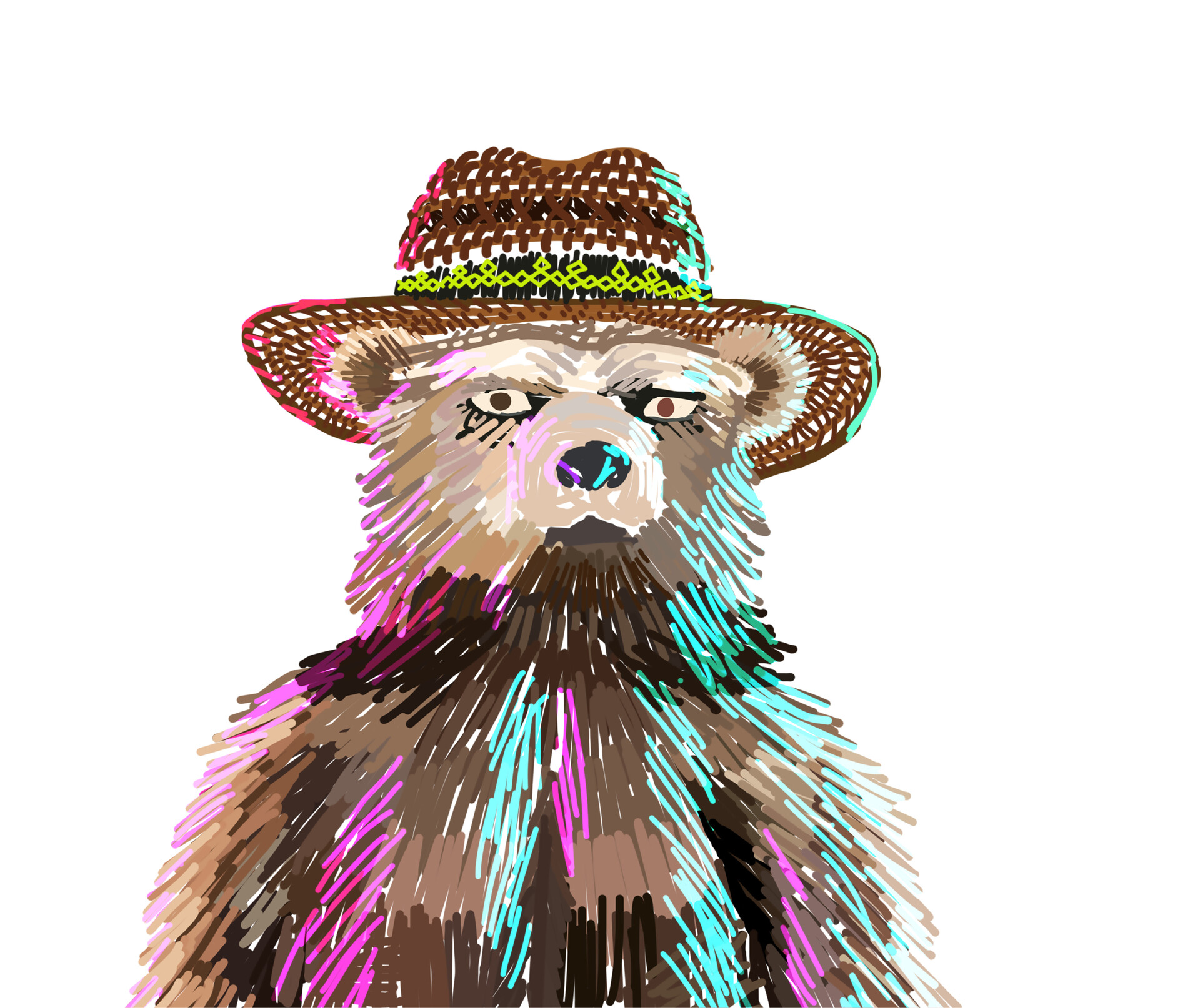 Bear in Hat - Color Guide