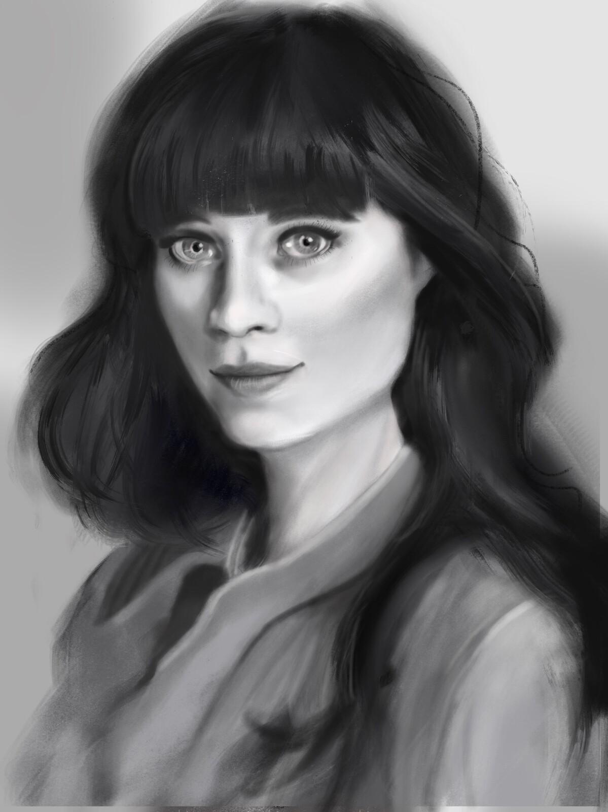 Zooey Deschanel portrait