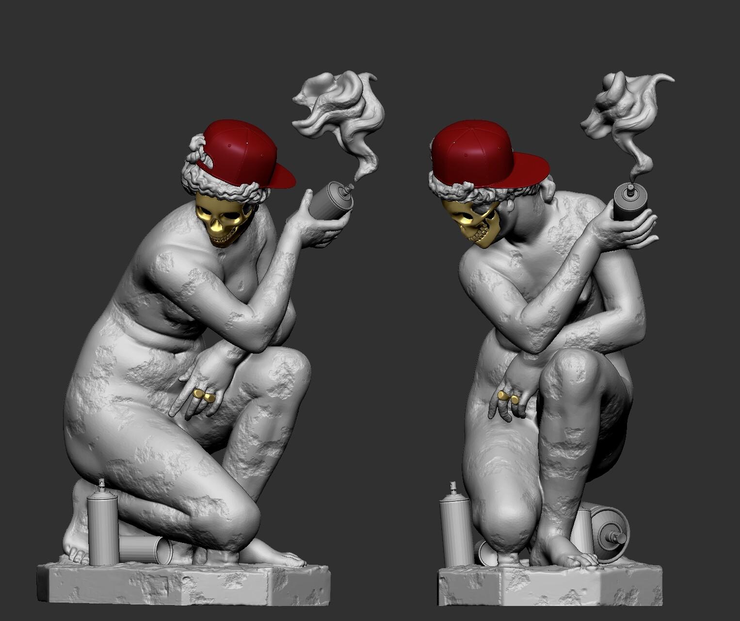 Bling bling greek gods series:the crouching venus revisited