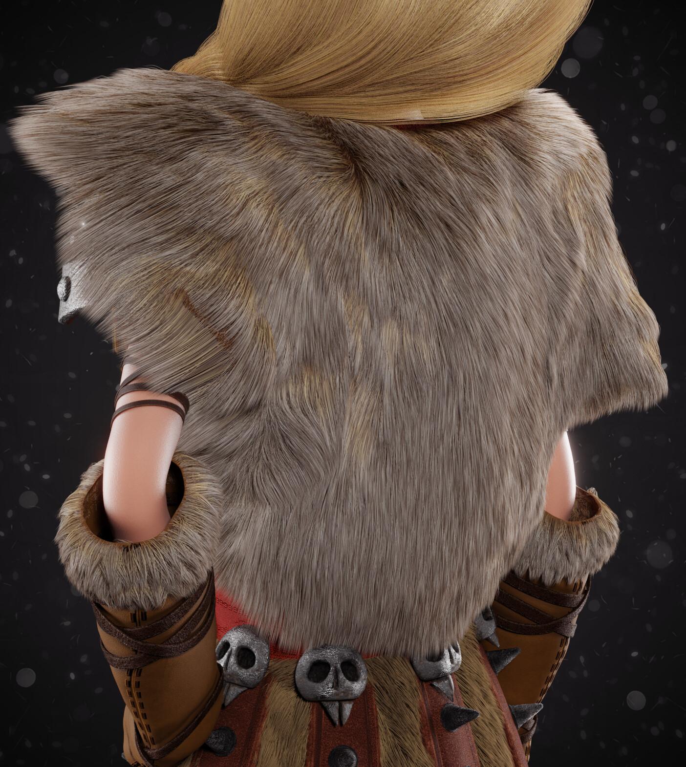 Back fur