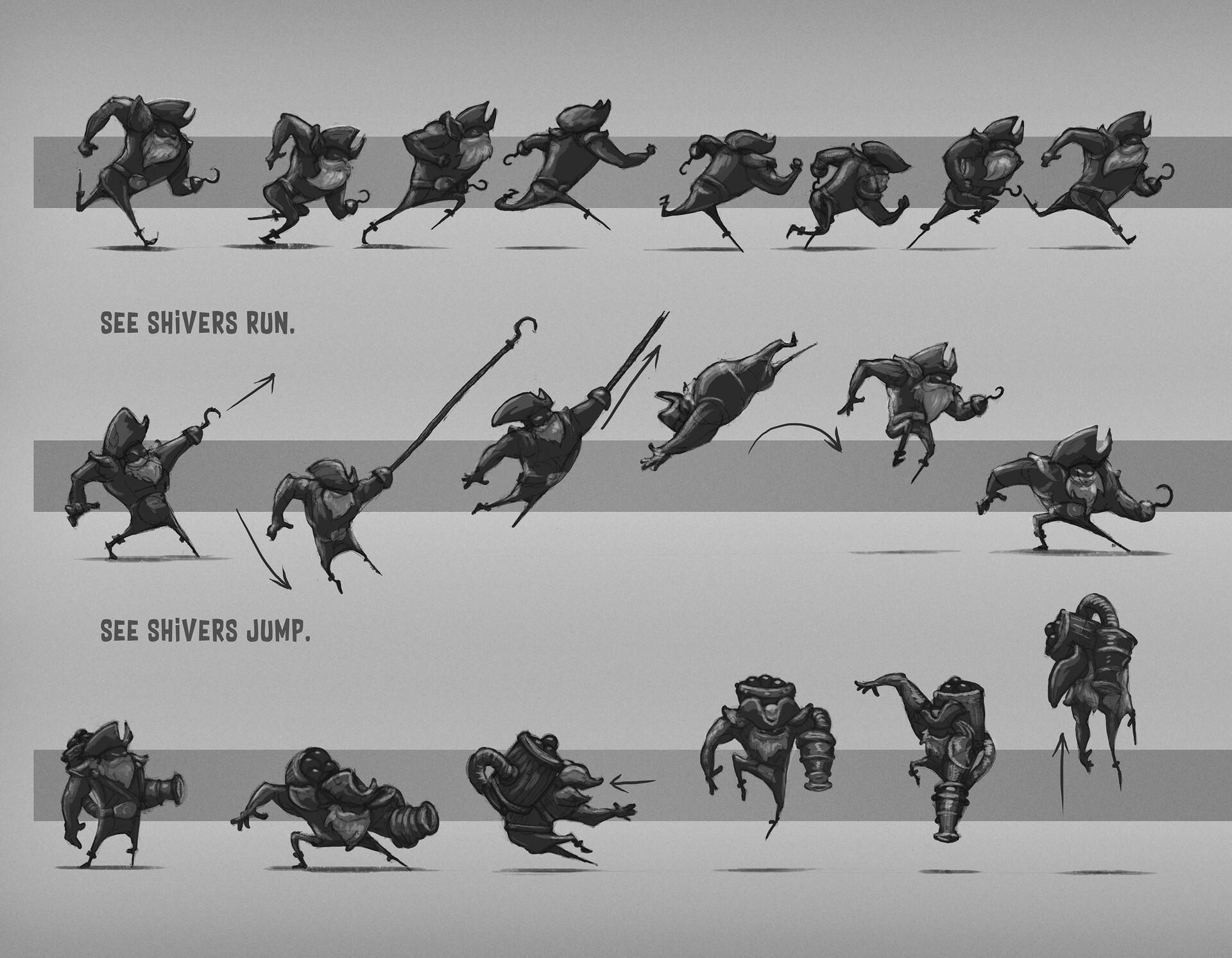 Shivers - Character movement sheet