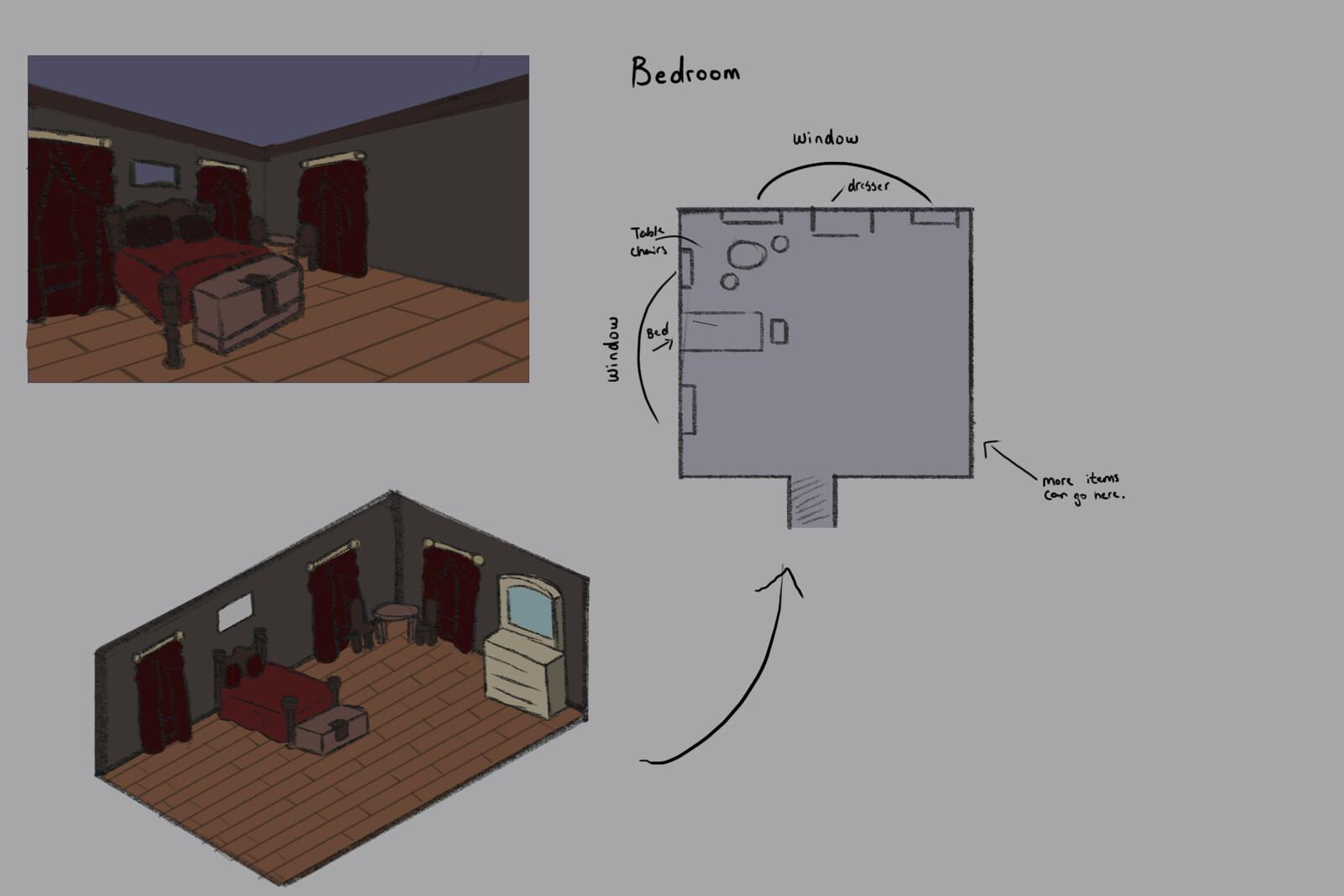 Concept Art: Bedroom