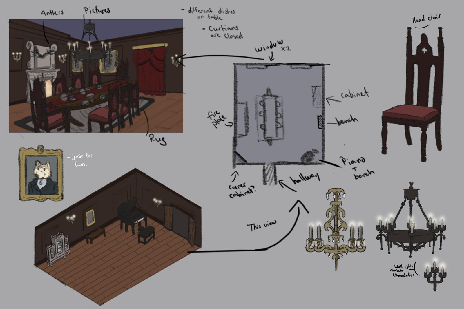 Concept Art: Dinning Room
