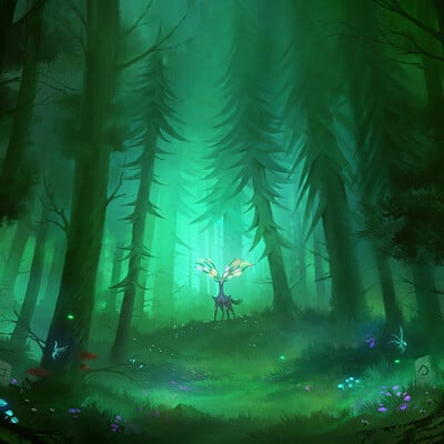 Nele diel magic in the forest