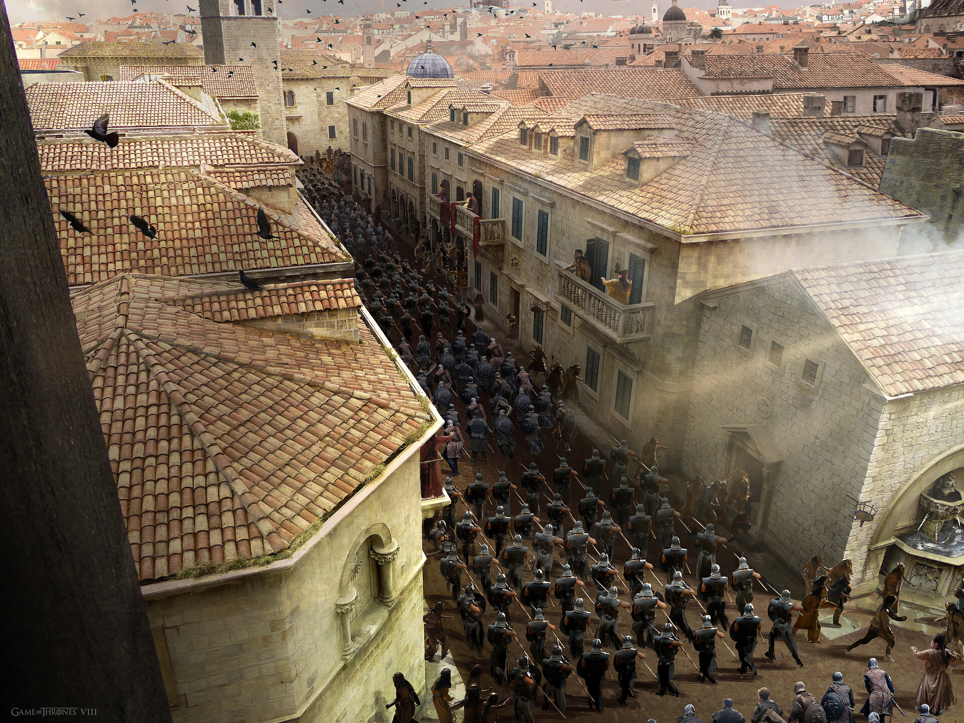 Concept to show Unsullied and Northern troops entering Kings Landing