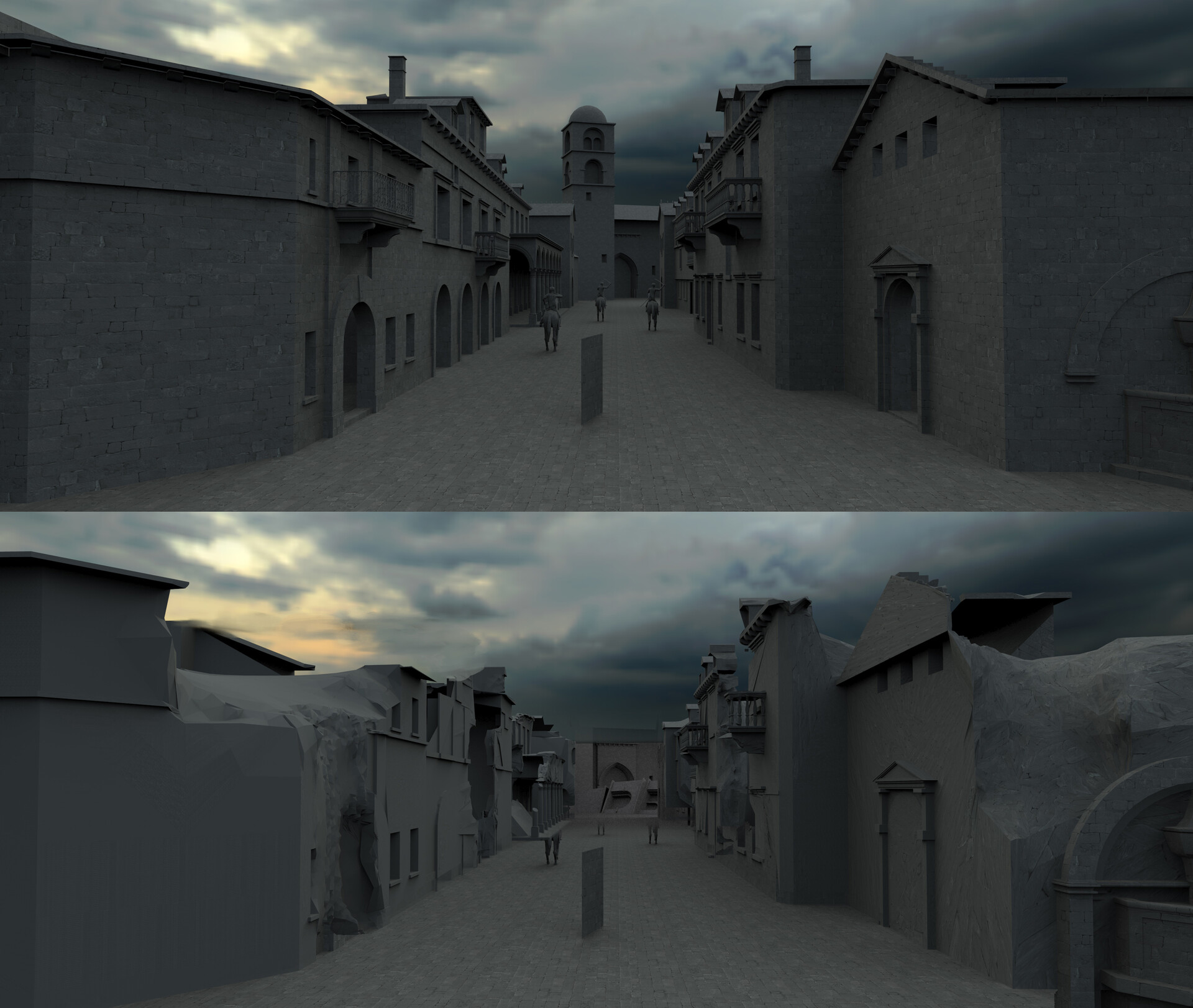 early 3D for the main Kings landing Street