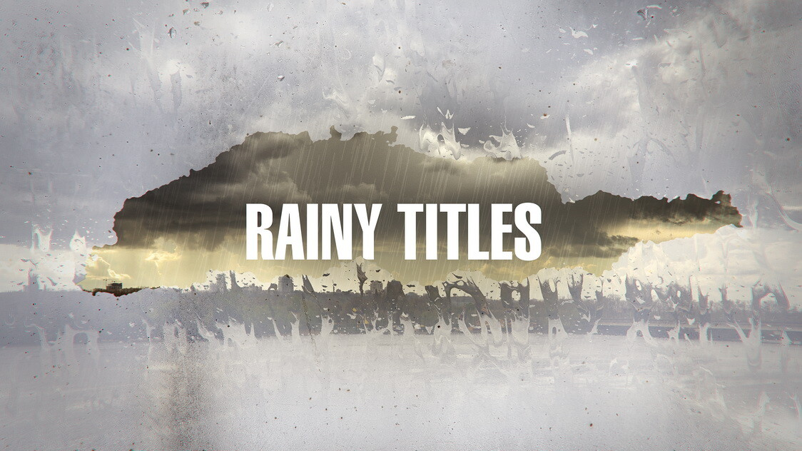 ArtStation - Rainy Titles After Effects Template Preview