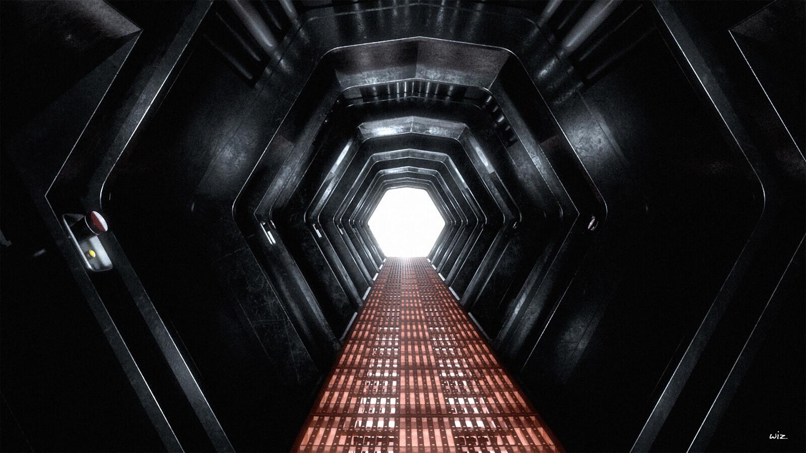 Paul wiz johnson detention block corridor