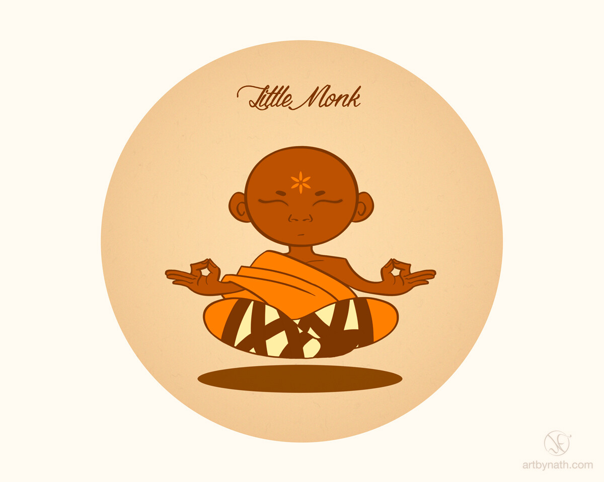 Little Monk illustration