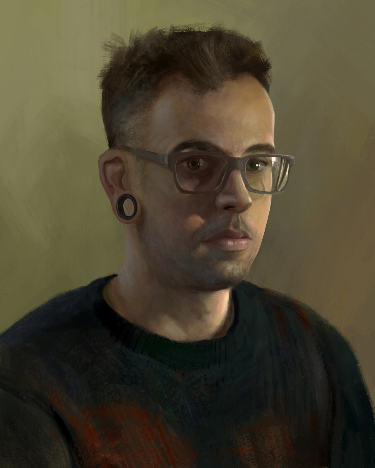 Self-portrait Lighting Study