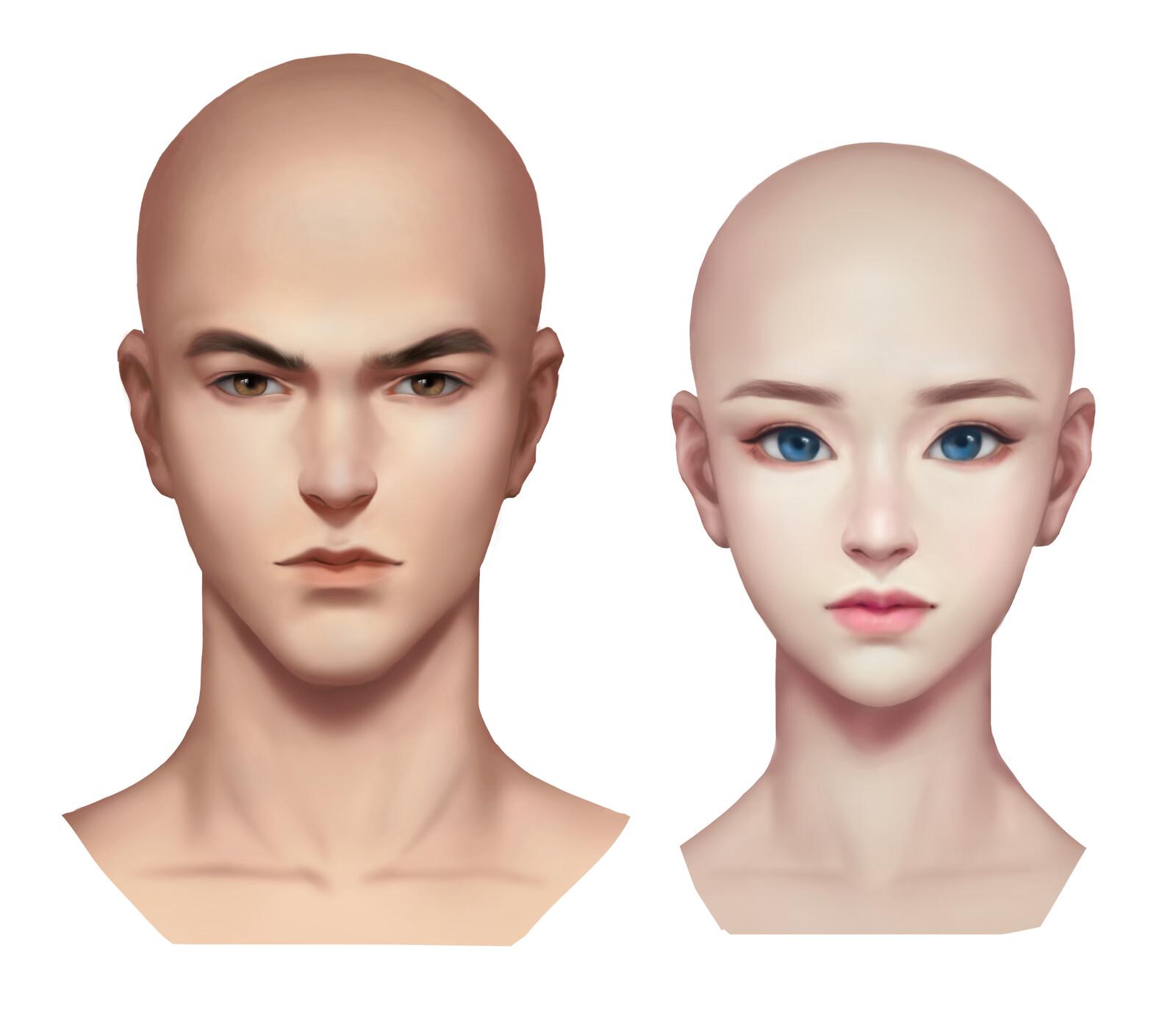 Stylized  Head Portrait Practice