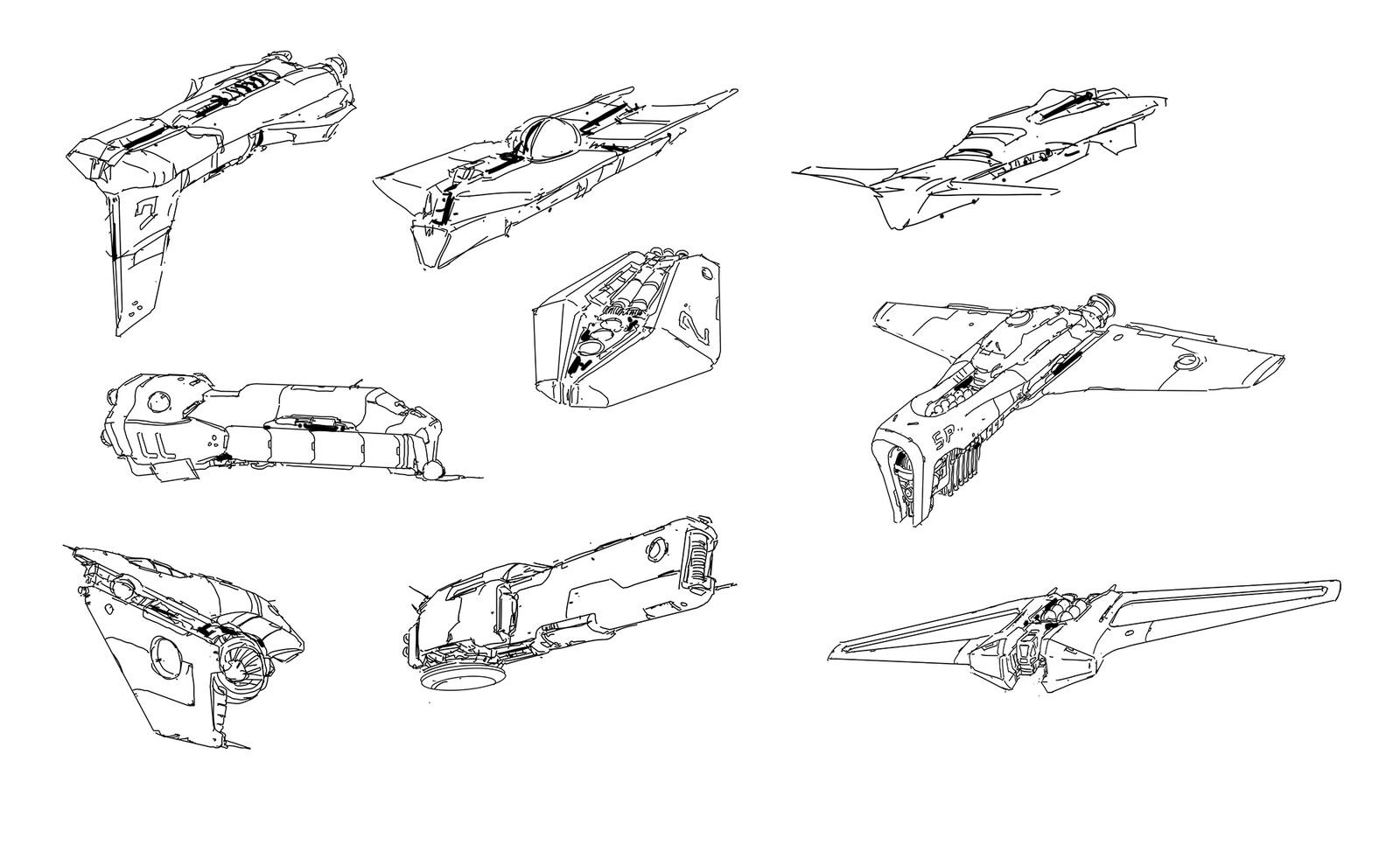 some random ship doodles...